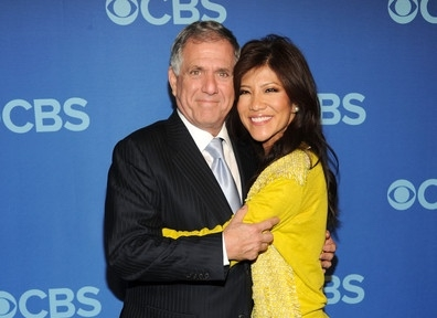 Photo of Les Moonves and Julie Chen.