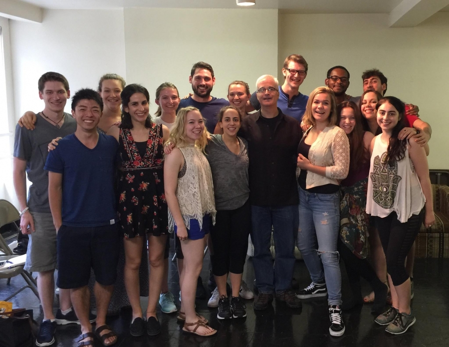 Class photo of Summer 2016  Group C acting students with Faculty member Jim Brill.