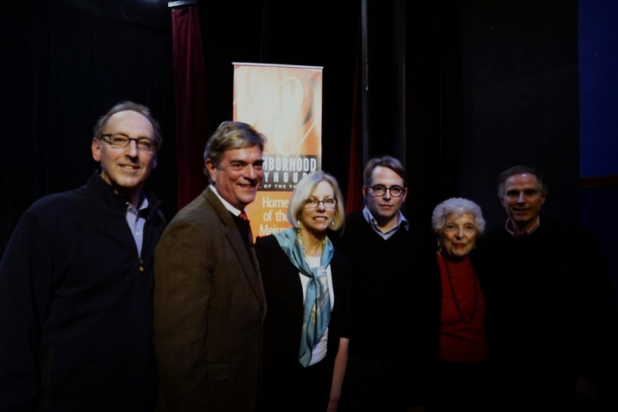 Photo of members of The Neighborhood Playhouse Board with Matthew Broderick.