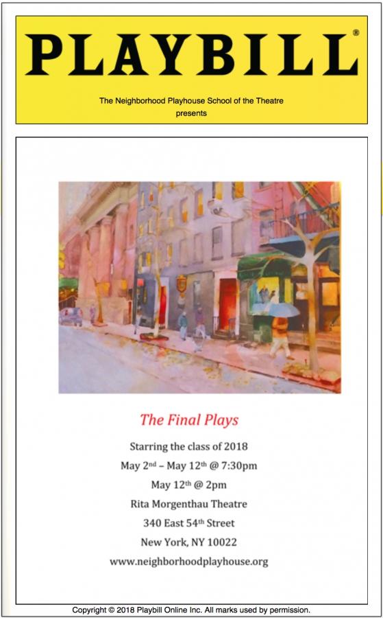 Final Play LoveSick Events - Playbill program