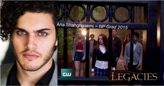 Promotional Poster for the CW's Legacies featuring Playhouse graduate Aria Shahghasemi, Class of 2015.
