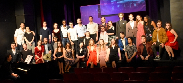 Full cast photo from Six Degrees of Sondheim.