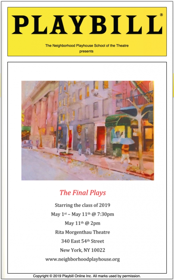 PLAYBILL Program for Final Plays 2019